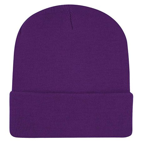 Plain Knit Cap Cold Winter Cuff Beanie (22+ Colors Available) (Purple) at Amazon Men's Clothing store: