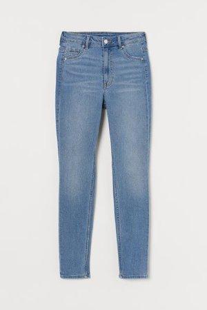 Curvy High Waist Jeggings - Blue - Ladies | H&M US