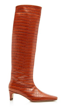 Wally Embossed Boots By Staud | Moda Operandi