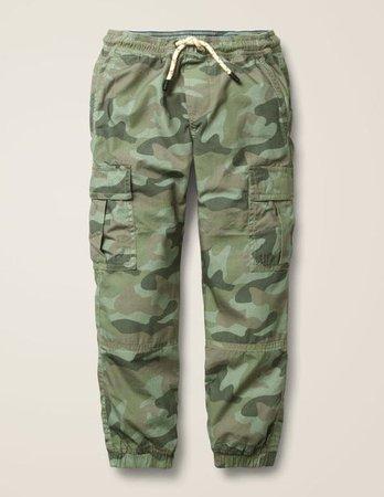 Lined Utility Cargo Pants - Soft Khaki Camouflage
