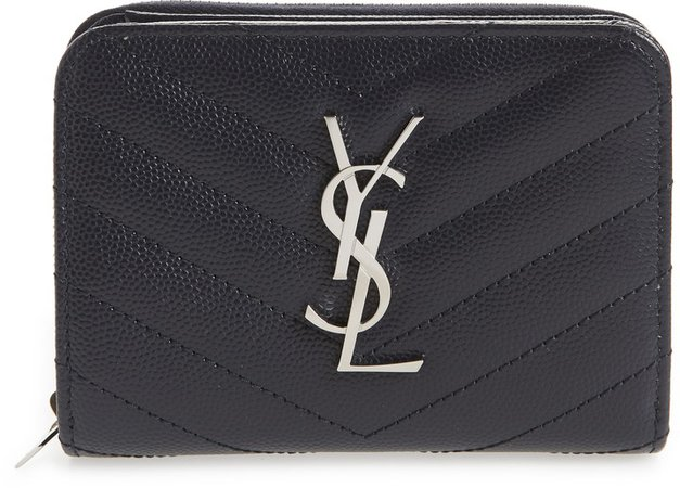 'Kate' Quilted Calfskin Leather French Wallet