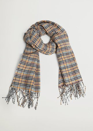 Hundtand stickad scarf - Damer | Mango