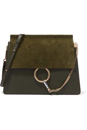 Chloé | Faye medium leather and suede shoulder bag | NET-A-PORTER.COM