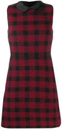 check sleeveless dress