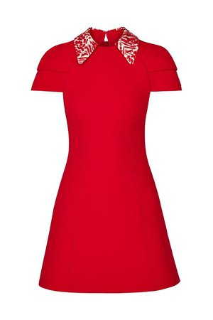 Dress With Embroidered Printed Collar - Ready-to-Wear   LOUIS VUITTON ®