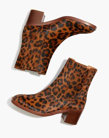 The Autumn High Chelsea Boot in Leopard Calf Hair