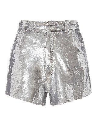 IRO | Silver Sequin Shorts