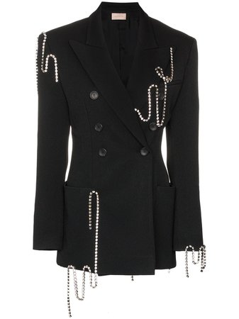 Christopher Kane crystal-chain Tailored Jacket - Farfetch