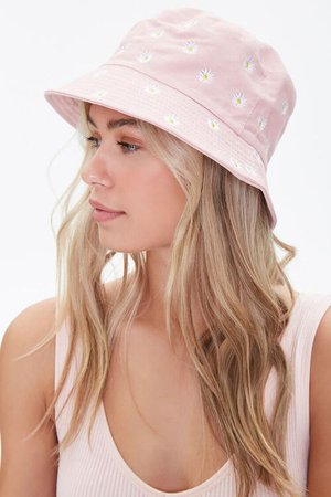 Embroidered Daisy Bucket Hat