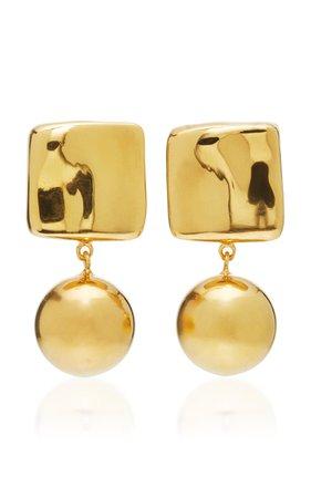 Luca Gold Vermeil Earrings by AGMES | Moda Operandi