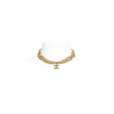 Chanel, choker Metal & Strass Gold & Crystal