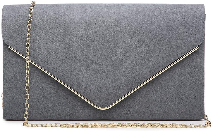 Dasein Women's Evening Clutch Bags Formal Party Clutches Wedding Purses Cocktail Prom Clutches (Pewter): Handbags: Amazon.com