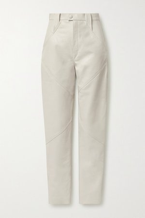 Isabel Marant | Xenia leather tapered pants | NET-A-PORTER.COM