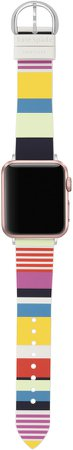 Apple Watch(R) stripe silicone strap