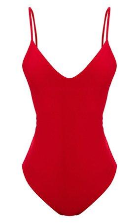 SHAPE RED SLINKY PLUNGE BODYSUIT.JPG (740×1180)