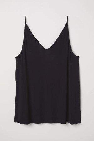 H&M+ V-neck Camisole Top - Black