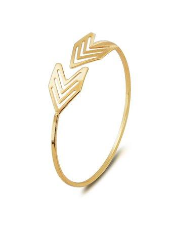 Arrow Decorated Cuff Bracelet