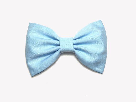 Light Blue Hair Bow Fabric Hair Bows Blue Hair Bows For