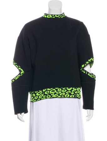 Christopher Kane Cutout-Trimmed Sweatshirt - Clothing - CHI23092 | The RealReal