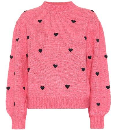 Rixo - Ariana heart-embroidered sweater | Mytheresa