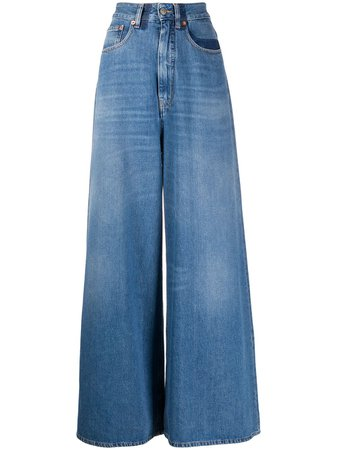 MM6 Maison Margiela Stonewashed wide-leg Jeans - Farfetch