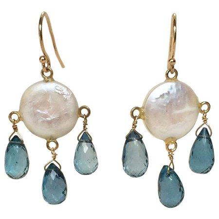 Marina J. chandelier earrings