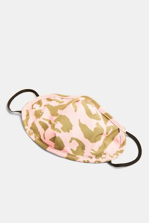 **Pink Animal Camouflage Fashion Face Mask | Topshop