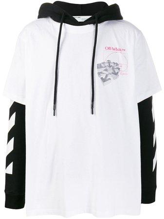 Off-White Golden Ratio T-Shirt Hoodie OMAB033R201850120188 White | Farfetch