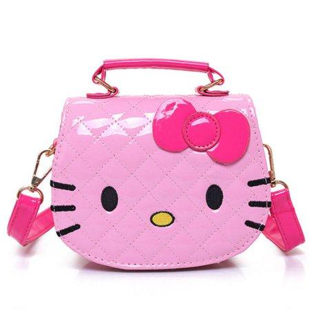 Children Cartoon Hello Kitty Bowknot Handbag Kids Tote Girls Shoulder Mini Bag | eBay