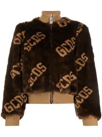 Gcds Textured Logo Print Bomber Jacket - Farfetch