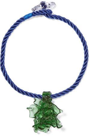 Maryam Nassir Zadeh   Poseidon glass and cord necklace   NET-A-PORTER.COM