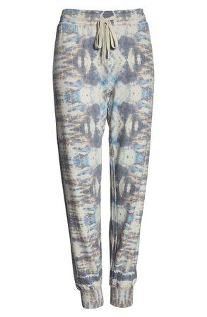 PJ Salvage Tie Dye Days Lounge Jogger Pants gray blue