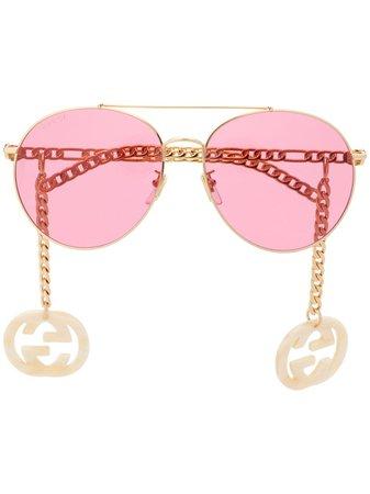 Gucci Eyewear 623842I3330 aviator-frame Sunglasses - Farfetch