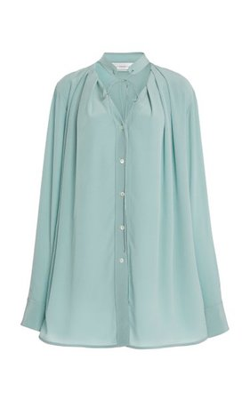 Pleated V-Neck Silk Blouse By Victoria Beckham | Moda Operandi