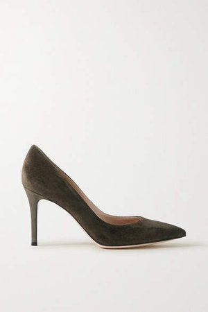 70 Suede Pumps - Army green