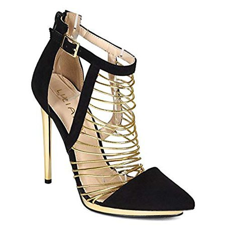 gold and black heels - Google Search