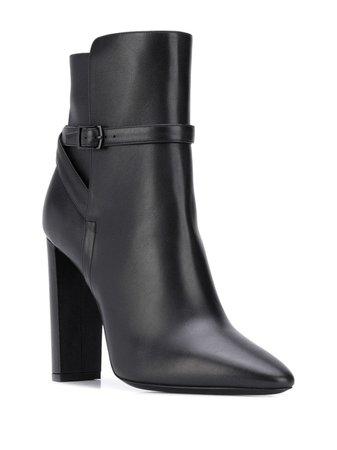 Saint Laurent 76 Jodhpur Ankle Boots - Farfetch