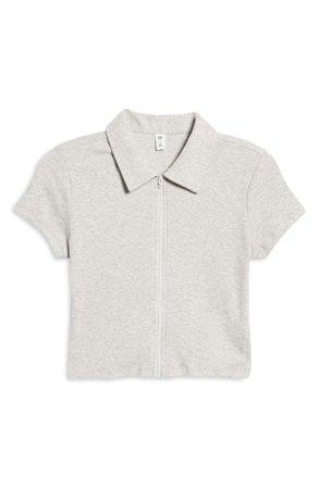 BP. Front Zip Organic Cotton Polo Shirt   Nordstrom