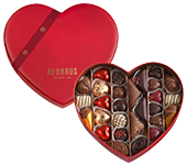 Neuhaus Valentine Chocolate Heart, 28 pcs - Assorted for Delivery in the US - Neuhaus