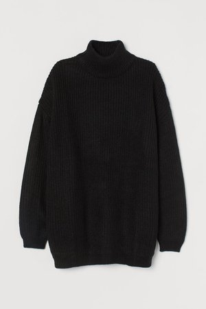 Turtleneck Sweater - Black - Ladies | H&M US