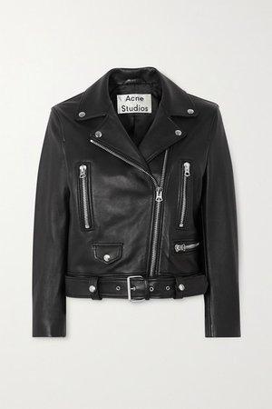 Leather Biker Jacket - Black