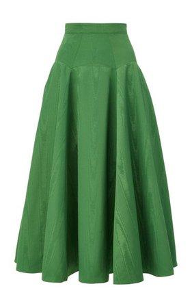 A-Line Moiré Midi Skirt By Brandon Maxwell   Moda Operandi