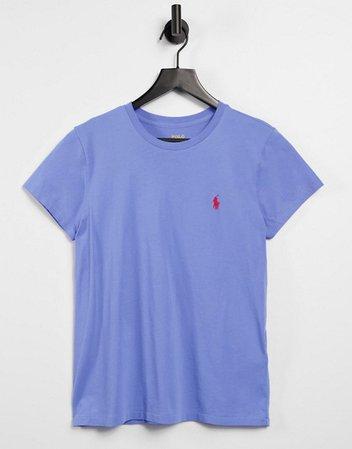 Polo Ralph Lauren crew neck logo t shirt in blue   ASOS