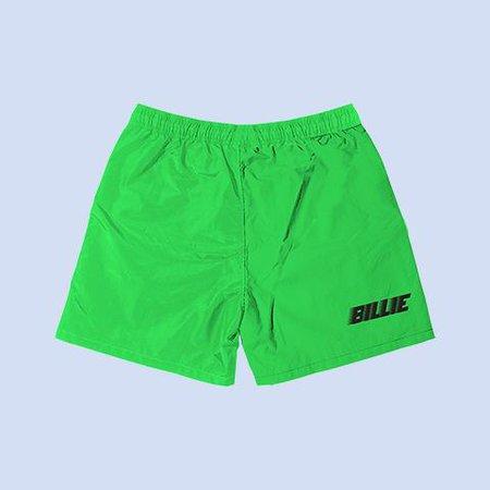 BILLIE GREEN SLIME SWEATSHORTS + DIGITAL ALBUM – Billie Eilish | Store