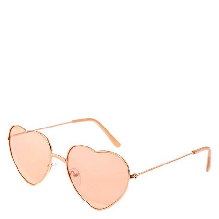 Rose Gold Heart Sunglasses | Icing US