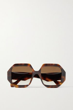 Tortoiseshell Octagon-frame tortoiseshell acetate sunglasses | Loewe | NET-A-PORTER