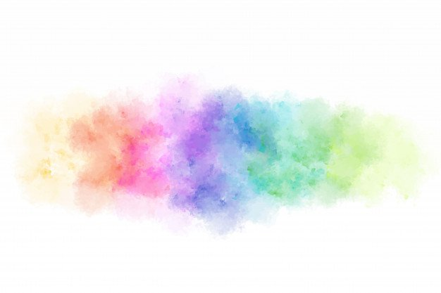 Abstract colorful watercolor splashing background. | Premium Vector