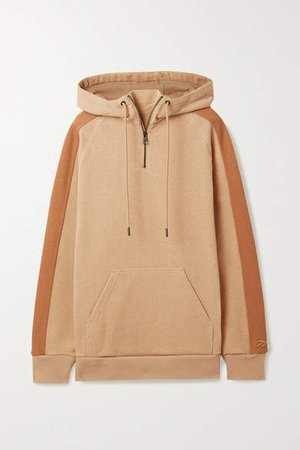Oversized Cotton-jersey Hoodie - Camel