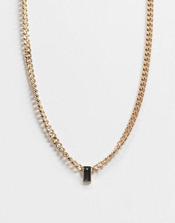 AllSaints baguette curb chain necklace | ASOS