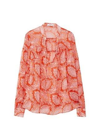 MANGO Boho paisley blouse
